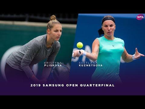 Kristyna Pliskova vs. Svetlana Kuznetsova | 2019 Samsung Open Quarterfinals | WTA Highlights
