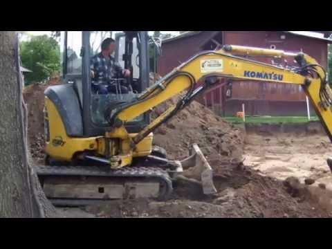 Как выкопать котлован на дачном участке мини-экскаватором - Steh39.ru