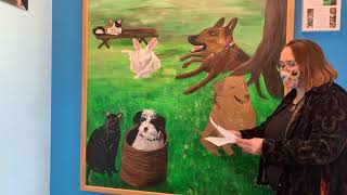 Unveiling of mural by Connor Fogal at Options Veterinary Care