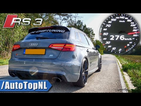 450HP AUDI RS3 8V 0-276km/h ACCELERATION LAUNCH CONTROL & DRAGY DATA By AutoTopNL