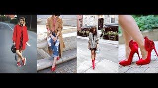 What to Wear With Red Shoes & Lookbook Fashion Trends