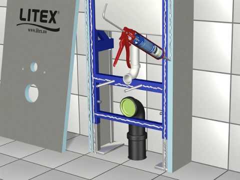 LITEX - Montering av vegghengt WC - YouTube