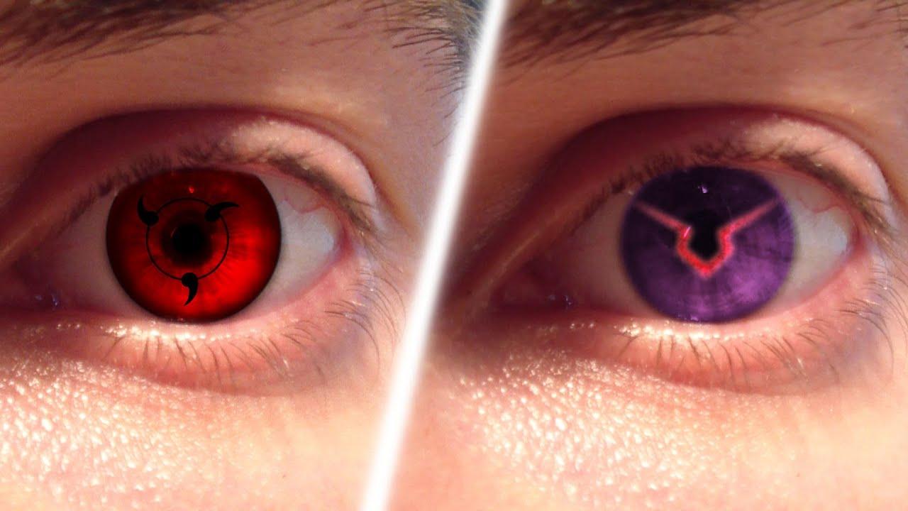 Real Life Anime Eyes 1 Sharingan Ghoul Geass Youtube