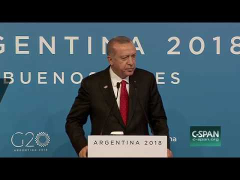 Turkish President Recep Erdogan News Conference G20 Summit Argentina, Dec 1 2018