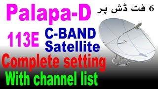 Palapa D113°E Satellite Update Paid Channel free in FTA Dish
