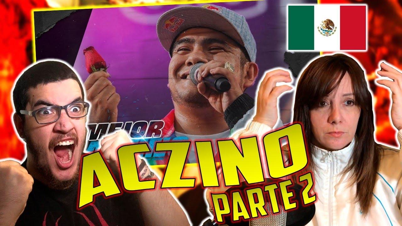 MI MADRE ARGENTINA 🇦🇷 REACCIONA A LO MEJOR DE ACZINO 🇲🇽 EN FMS! ACZINO EL PAYASO DIABÓLICO😈 *PARTE2