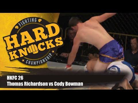 Thomas Richardson vs Cody Bowman | MMA | Hard Knocks Fighting Championship | HKFC 26