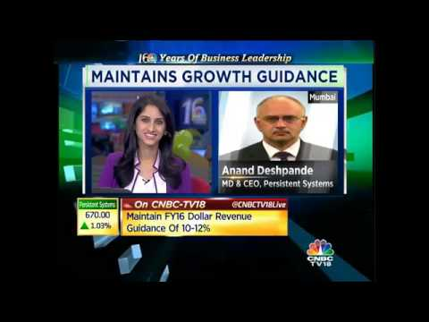 Maintain FY16 Dollar Revenue Guidance Of 10-12%: Persistent Systems - Dec 7