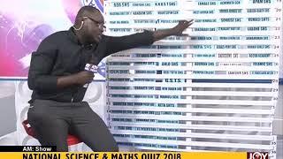 National Science And Maths Quiz 2018 - AM Show on JoyNews (18-6-18)