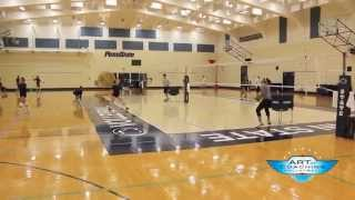 Penn State Volleyball Down Ball Drill - Art of Coaching Volleyball