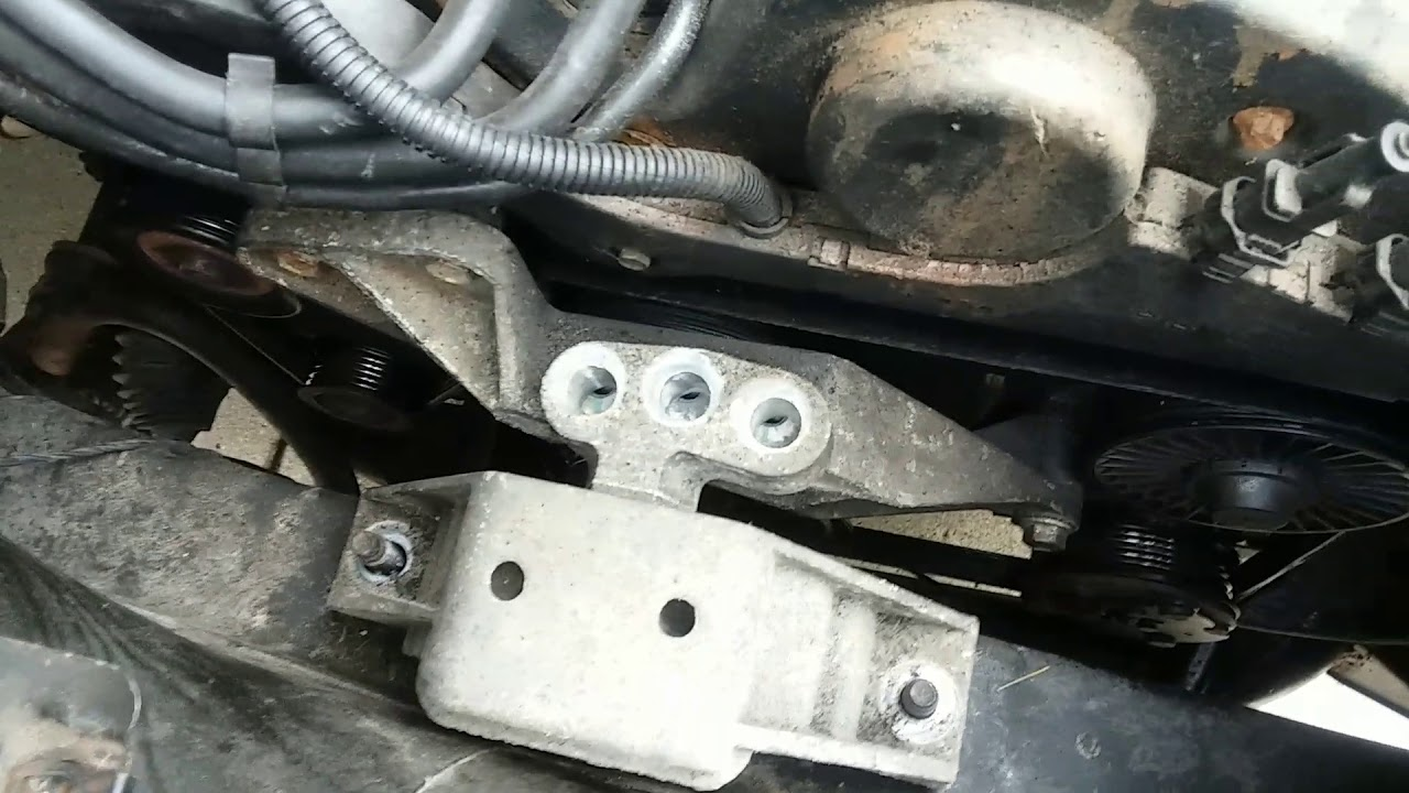 hight resolution of do it yourself 03 saturn vue awd v6 3 0 remove motor mount and replace serpentine belt