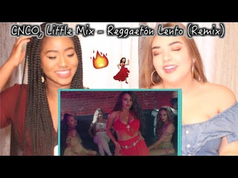 CNCO Little Mix - Reggaetón Lento Remix    REACTION