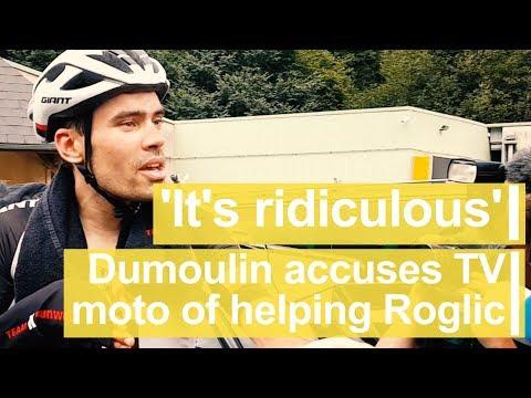 'It's ridiculous': Dumoulin accuses TV moto of helping Roglic