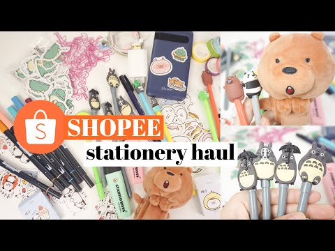 SHOPEE Stationery Haul!! Back To School Haul Murah - Murah Semuaaa | Indonesia