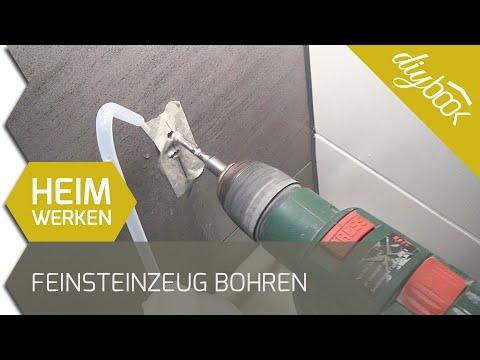 Extrem Feinsteinzeug bohren - WC-Bürste montieren - YouTube AD11