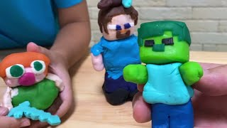 粘土でマインクラフト Minecraft Characters Made From Clay