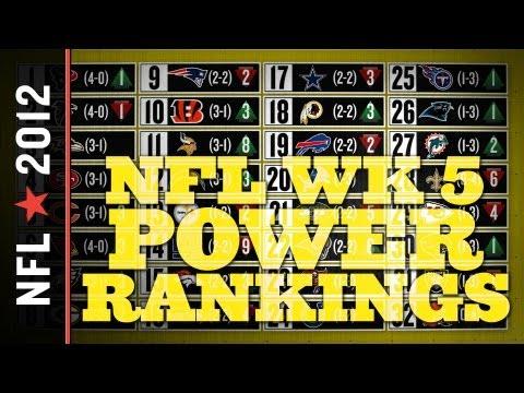2012 NFL Power Rankings, Week 5