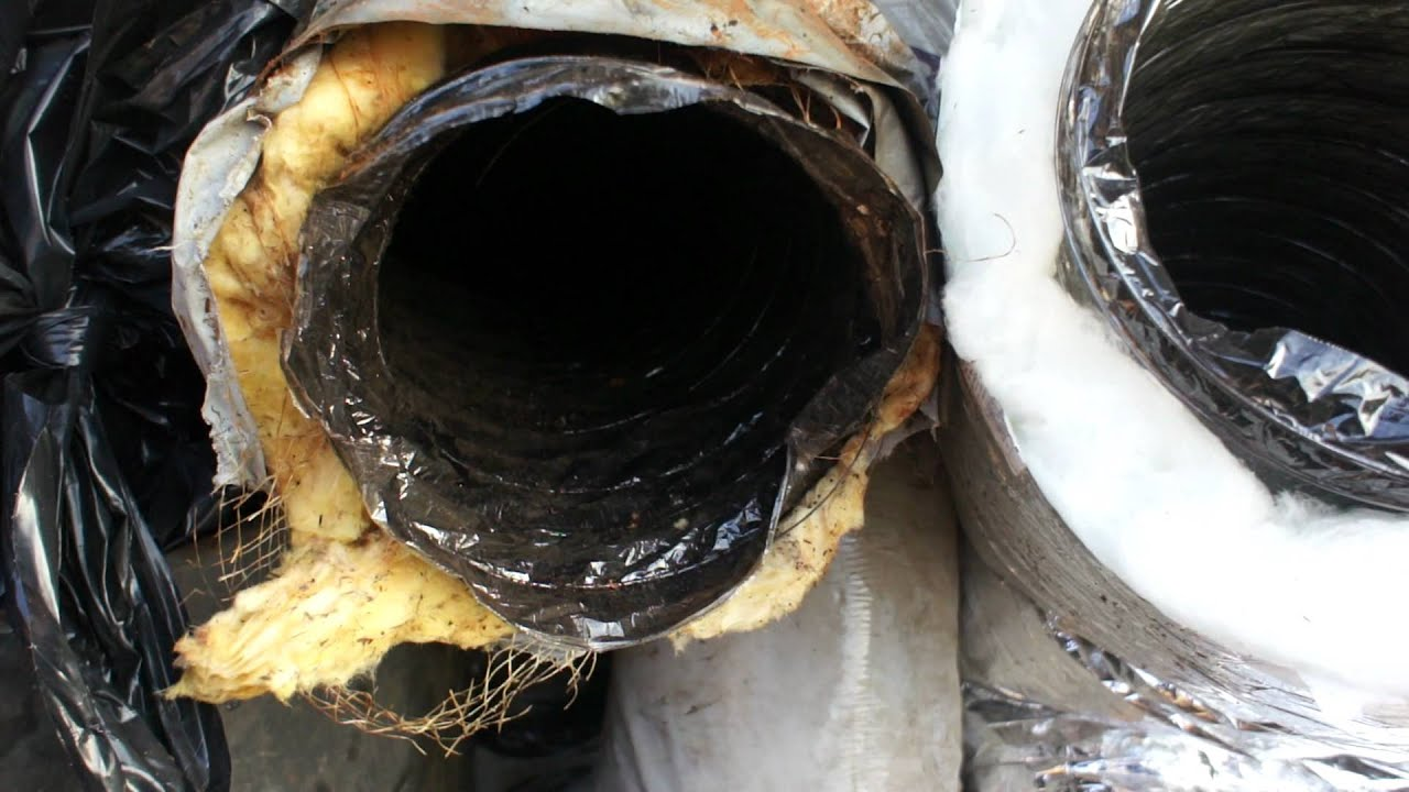HVAC old flex duct vs new flex duct