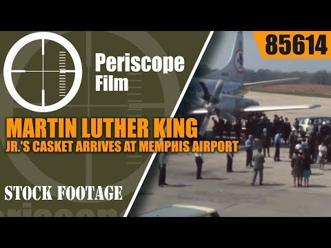 MARTIN LUTHER KING JR.'S CASKET ARRIVES AT MEMPHIS AIRPORT APRIL 5, 1968  85614
