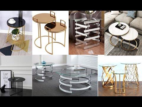 طاولات ذهبية مصنوعة من الحديد والاستانلس والمنيوم تناسب الصالون المغربي Youtube