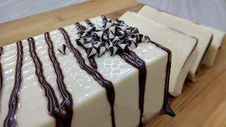 Creamy White Chocolate Bar   Chocolate 'n Cream Jelly   Eggless Dessert