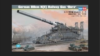 HobbyBoss 1/72 German 80cm K(E) Railway Gun