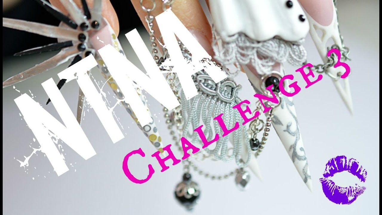 NTNA NAILS Next Top Nail Artist - Challenge 3 - Pink & White Couture ...