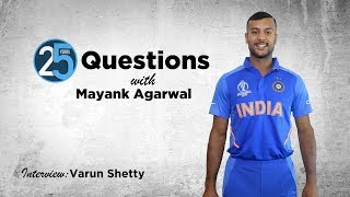 25 Questions with Mayank Agarwal   Who has the best beach bod in the Indian team?