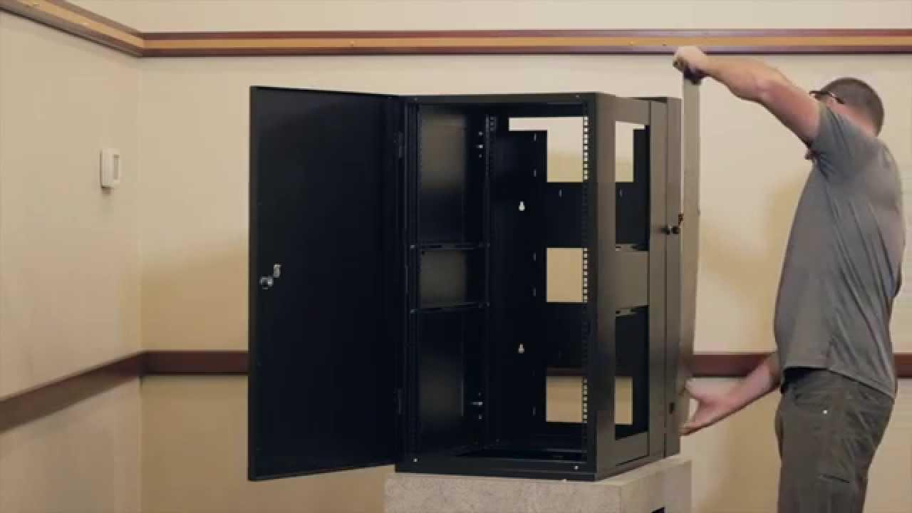 emcor guardian wall mount server racks cabinets youtube. Black Bedroom Furniture Sets. Home Design Ideas