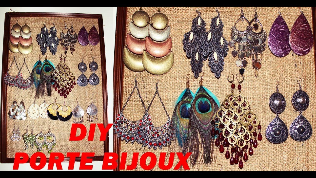 Diy porte bijoux boucles d 39 oreilles youtube - Porte boucle d oreille mural ...