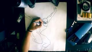 KJAiE | Spiderman Sketch (charcoal, ebony)