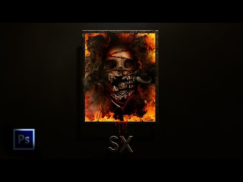how to make a Skull of Pirate / tutorial Photoshop (фотошоп)