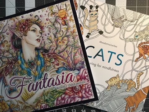 Fantasia Coloring Book And Cats Coloring Book