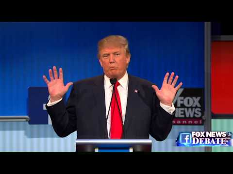 Thumbnail: Donald Trump and Megyn Kelly go back and forth at the Fox News GOP debate
