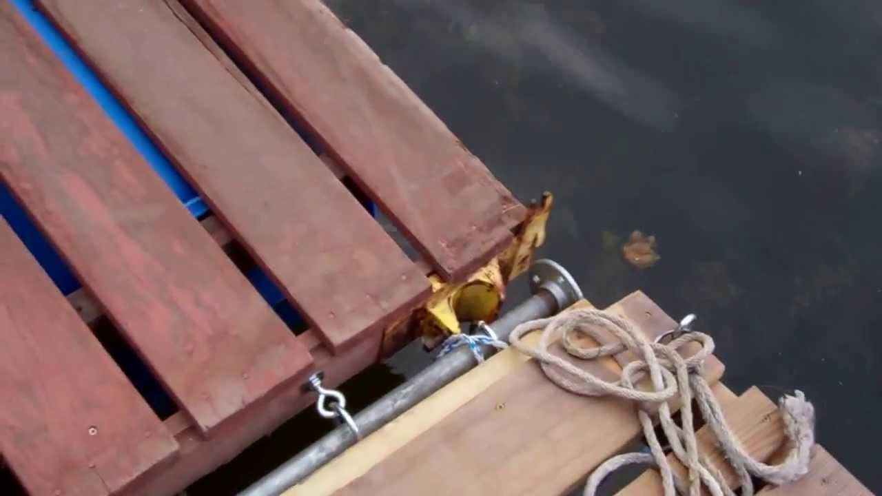 floating dock sections - YouTube
