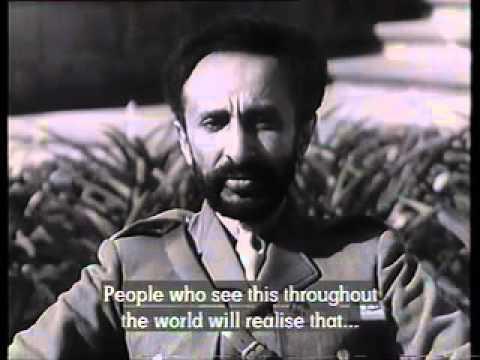 Emperor Haile Selassie I Speaks In English