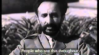 Emperor Haile Selassie I Message of Peace In English