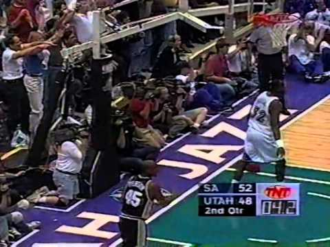 Jazz vs Spurs 1998 NBA Playoffs WCSF Game 2 OT Thriller