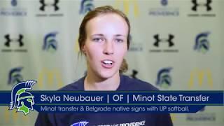 Minot State Transfer Skyla Neubauer Signs with Lady Argo Softball