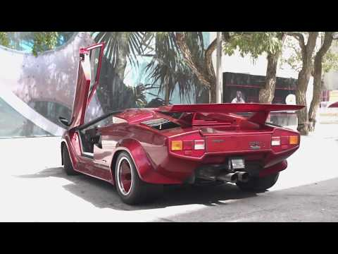How to back up Lamborghini Countach Turbo