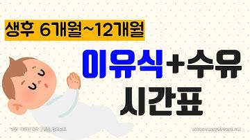 [통잠재우기 수유텀] 생후6개월~12개월 수유 이유식 시간표