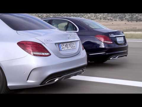 2014 Mercedes-Benz C-Class driving footage