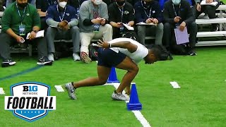 Penn State Pro Day: Showing Off Agility W/ Three-Cone Drill   Big Ten Football In The 2021 NFL Draft