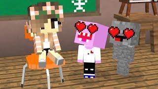 Minecraft Schule : Verliebt in ein Mädchen - Liebe & Kummer - Team Rocket - Minecraft Film deutsch