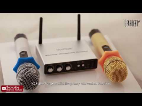 Excelvan K28 Dual Channel Transmitter Microphone - Gearbest.com