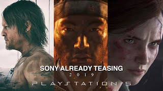 SONY Already Teasing 2019?!(Last of Us 2,DeathStranding,Ghost of Tsushima Release Dates ...