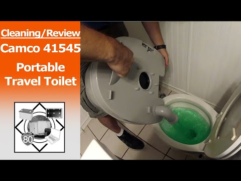 Cleaning/Review: Camco 41545 Portable Travel Cassette Toilet