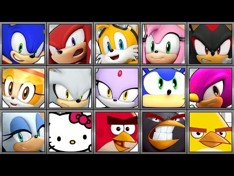 Sonic Dash - All 19 Characters - Full Game Play - 1080 HD