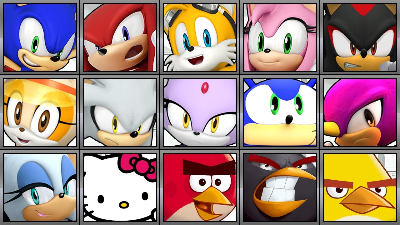 sonic dash all 19 characters full game play 1080 hd youtube