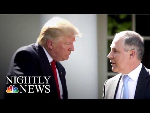 President Donald Trump Defends Embattled EPA Chief Scott Pruitt | NBC Nightly News